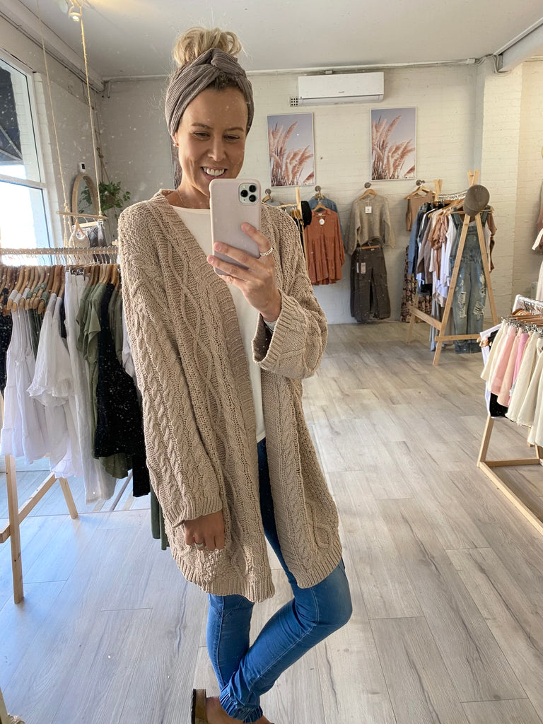 Peggy Knit Cardi Natural