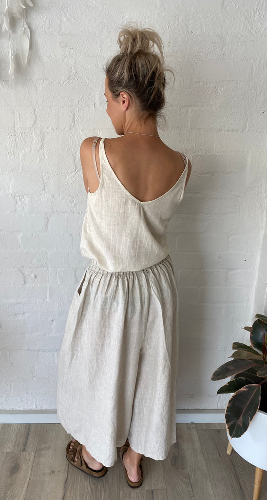 Scarlett Linen Pants Natural