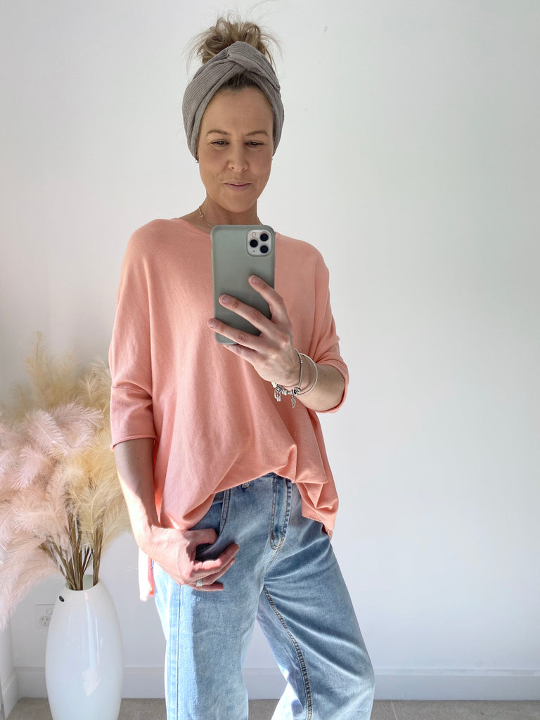 Oversized Lightweight Knit Peach