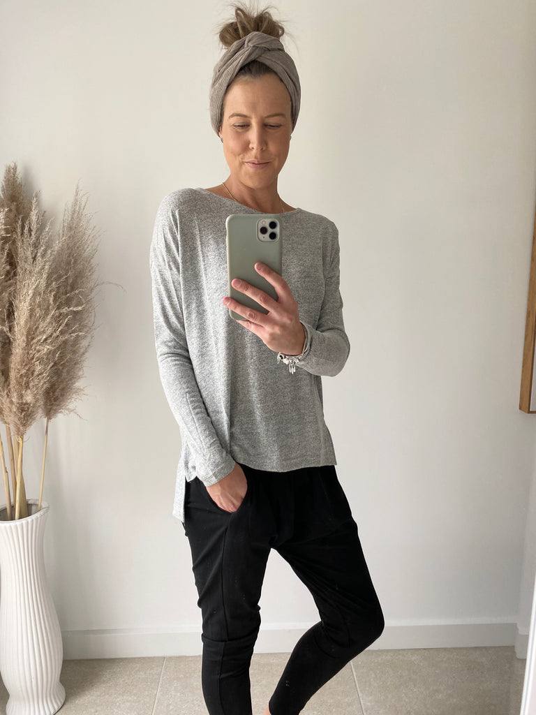 Mily Basic Top Grey