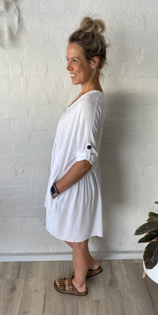 Tessa Dress White