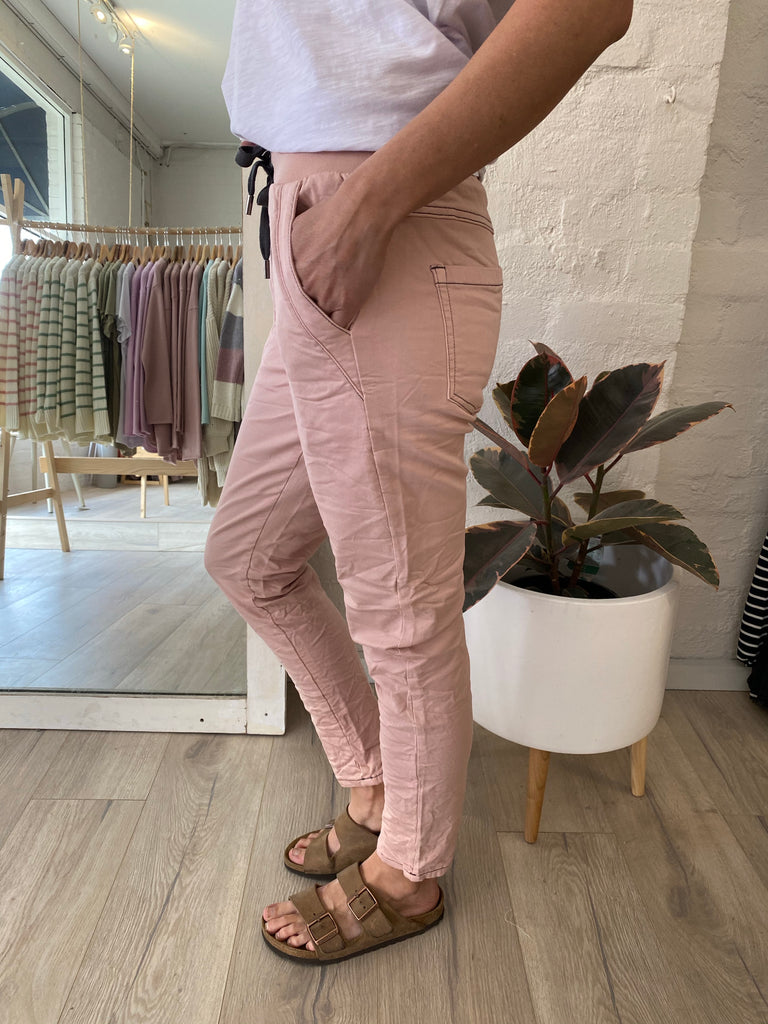 Jessie Denim Jogger Blush