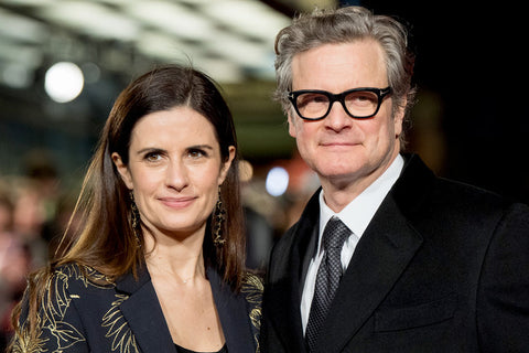 Livia Firth with Colin Firth on the red carpet