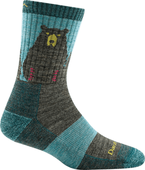 Bear Town Micro Crew Light Cushion Sock