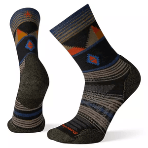 Men's PhD Outdoor Light Pattern Hiking Crew Socks