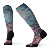 Women's Compression Sunflower Print OTC Sock