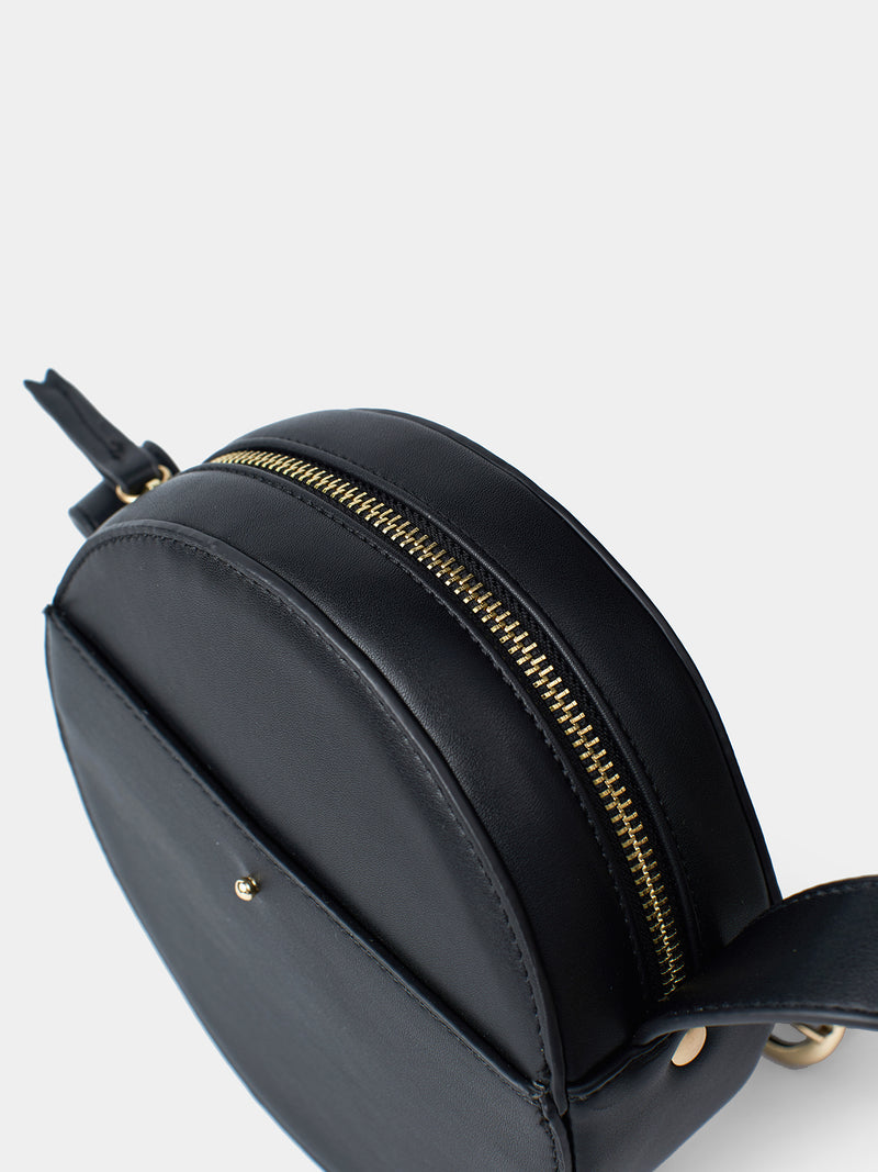Viola Mini Circle Bag - Black