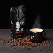 500G DEADLY STRONG COFFEE WITH DEAD OR ALIVE COFFEE MUG