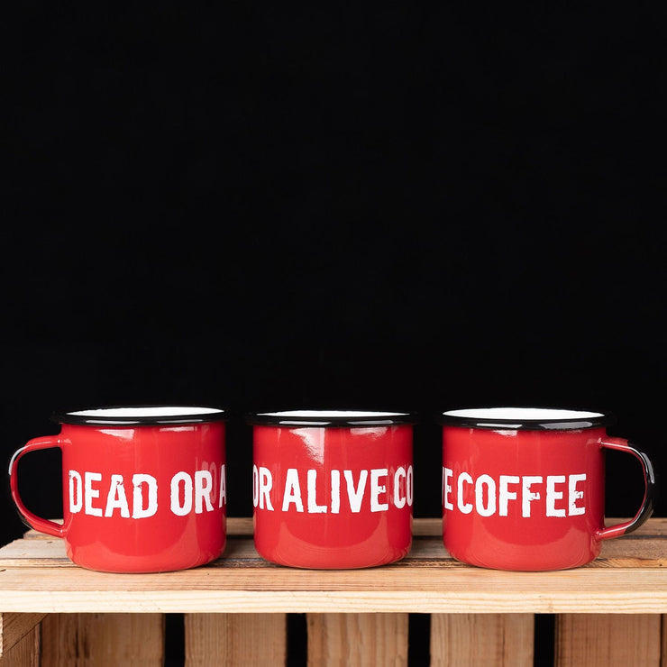 DOAC STANDARD MUG RED - coffee beans, strong coffee beans, Best coffee beans, Dead or alive coffee beans