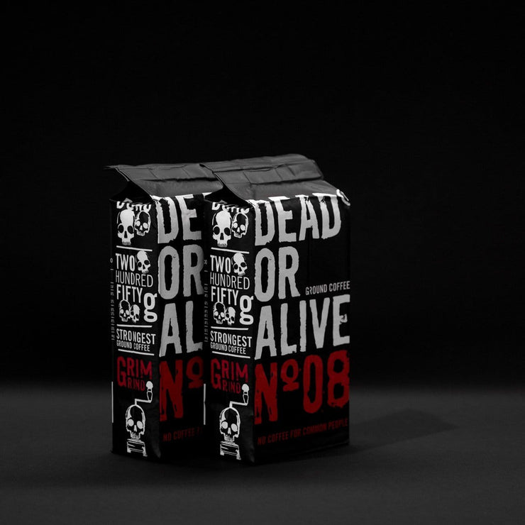DEAD OR ALIVE MOKA Nº08 - coffee beans, strong coffee beans, Best coffee beans, Dead or alive coffee beans