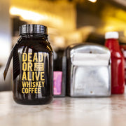 DEAD OR ALIVE WHISKEY COFFEE - DEADLY JACK - WHISKEY FLAVORED COFFEE - GLASS BOTTLE