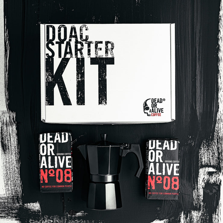 DOAC STARTER KIT - coffee beans, strong coffee beans, Best coffee beans, Dead or alive coffee beans