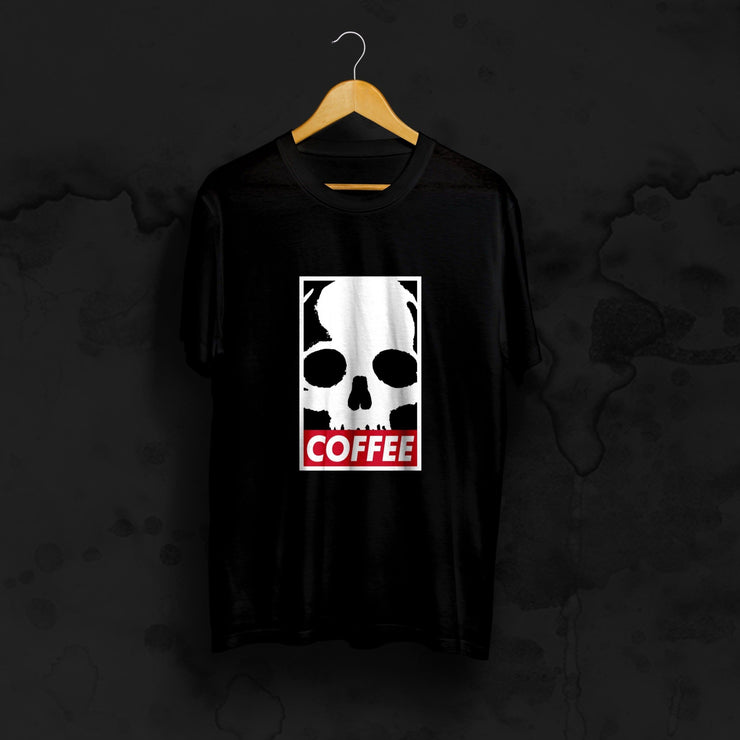 "T-SHIRT ""SKULLY"" - coffee beans, strong coffee beans, Best coffee beans, Dead or alive coffee beans"