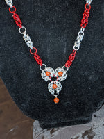 Red Jasper Romanov Focal Chainmail Necklace