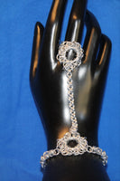 Byzantine Single Flower Hand Chain Bracelet
