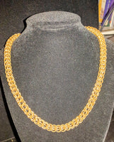 Persian weave chainmail necklaces