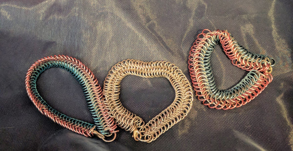 Gorgeous serpentine chainmail bracelets