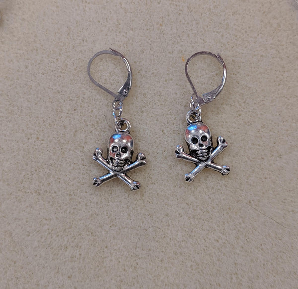 Skull & Crossbones dangle earrings