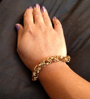 Beautiful Brass Byzantine Weave Chainmail Bracelets