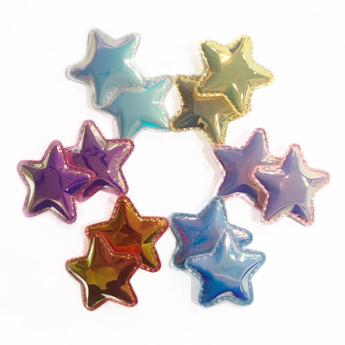 Metallic Star Clip Set