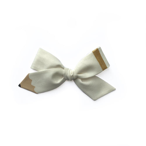 Pencil Bow || Uniform White