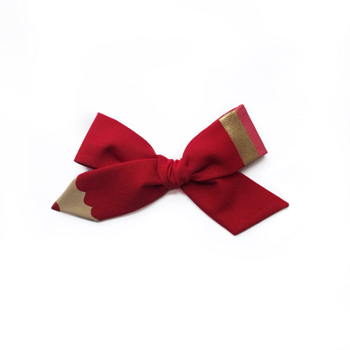 Pencil Bow || Teacher Red