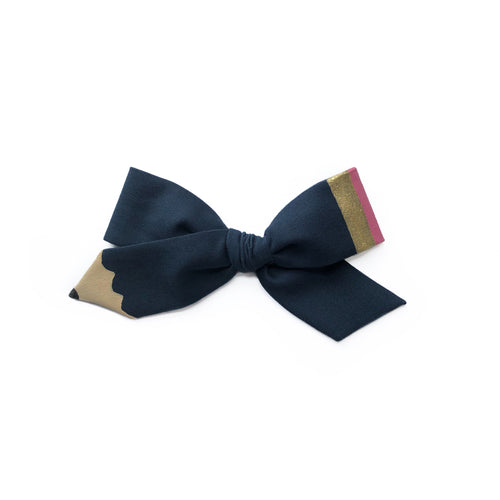 Pencil Bow || Uniform Navy