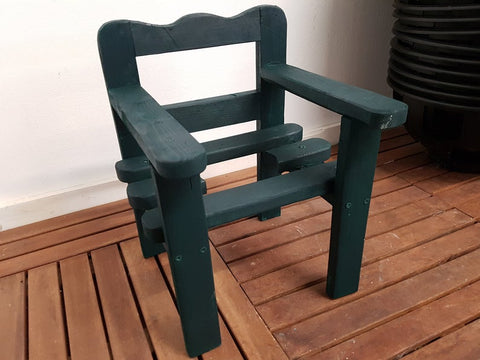 Handmade Wooden Plant Chair Garden Decor Furniture