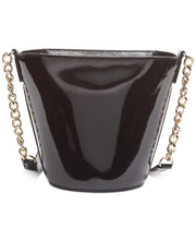 Load image into Gallery viewer, DKNY Kim Croc Embossed Chain Leather Bucket Bag
