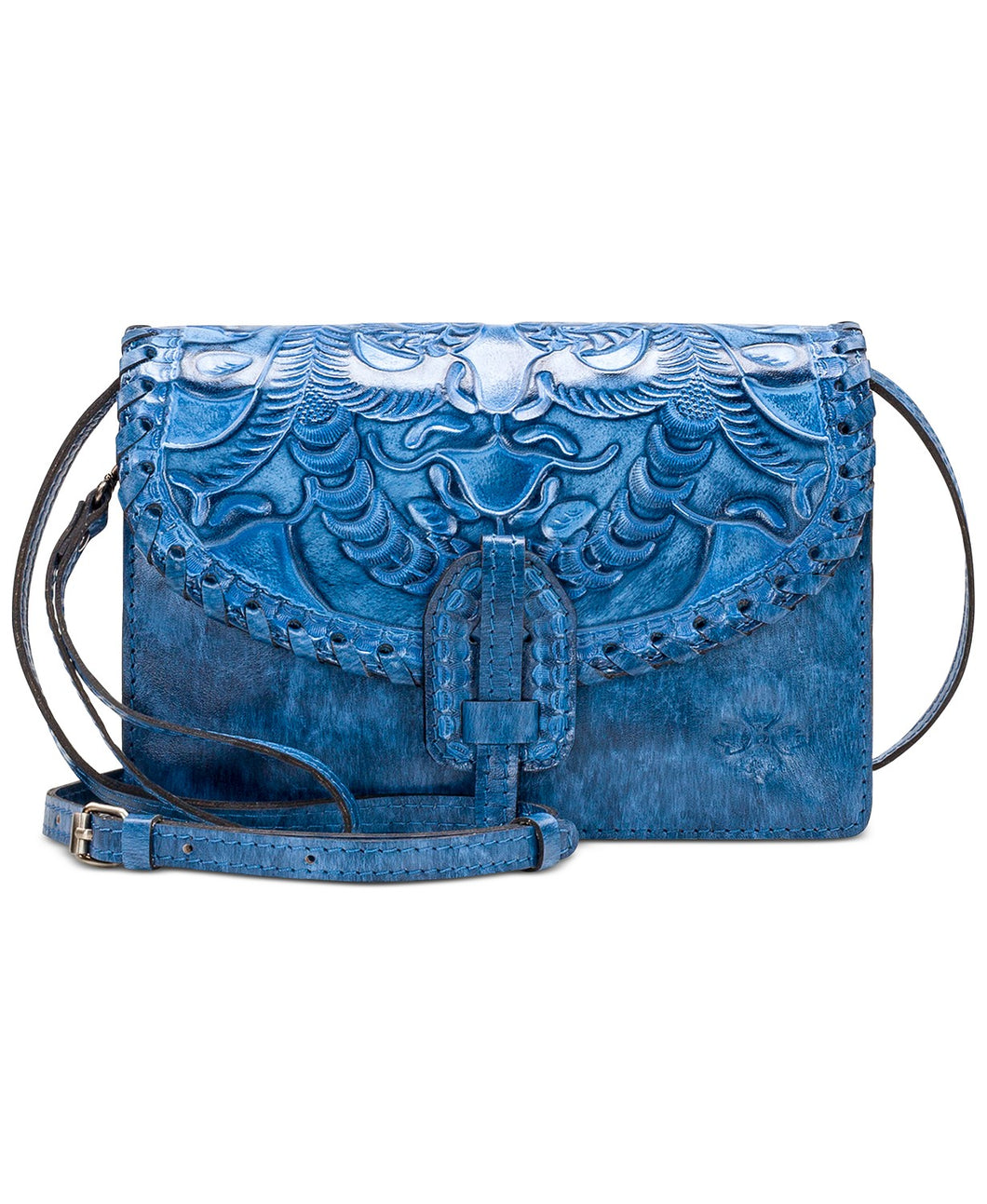 Patricia Nash Burnished Tooled Leather Lanza Crossbody