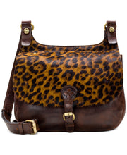 Load image into Gallery viewer, Patricia Nash Leopard London Leather Saddle Bag