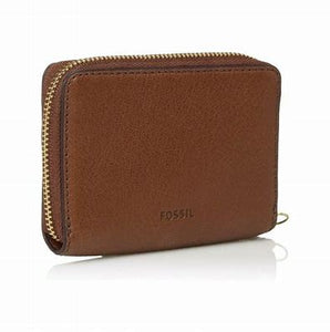 Fossil Fiona Zip Coin wallet Saddle