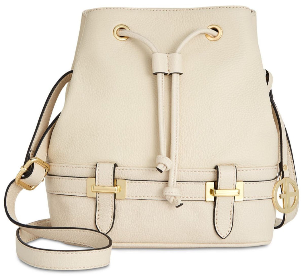 Giani Bernini Pebble Leather Bridle Bucket Bag