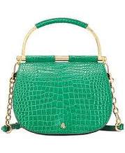 Load image into Gallery viewer, Lauren Ralph Lauren Mason Croc-Embossed Leather Satchel