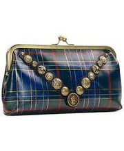 Load image into Gallery viewer, Patricia Nash Potenaz Clutch Blue/Green Tartan