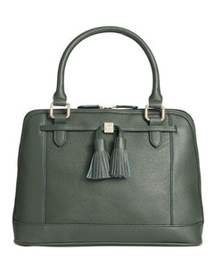 Giani Bernini Pebble Leather Tassel Dome Satchel