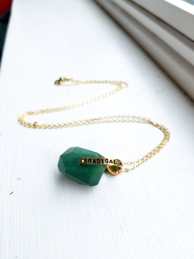 """Radical Authenticity"" Crystal Necklace - Chrysocolla"