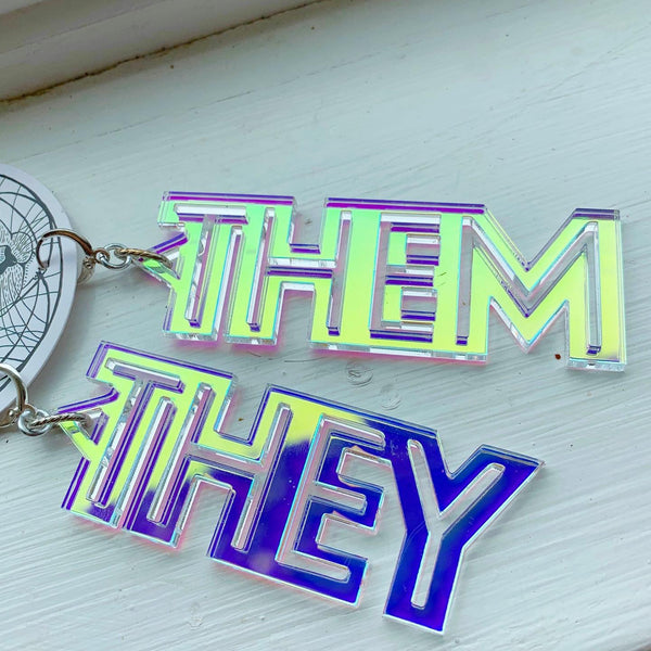 My Pronouns Earrings