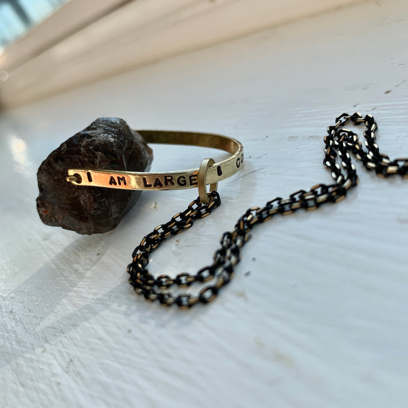 """I Contain Multitudes"" Crystal Necklace - Smoky Quartz / Agate"