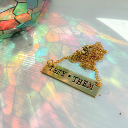 They / Them Necklace