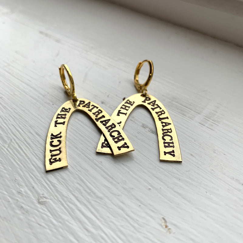Wishbone Stamped Earrings