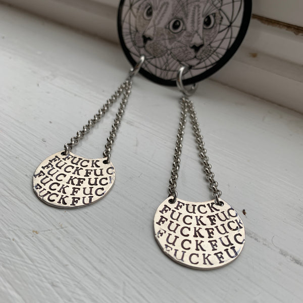 Fuck Stamped Earrings
