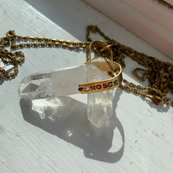 Quartz Crystal Necklaces - VARIOUS STAMPS