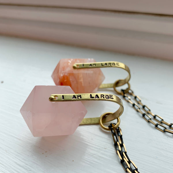 """I Contain Multitudes"" Crystal Necklace"
