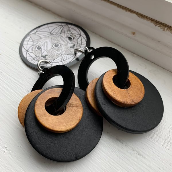 The Black and Tan Earrings