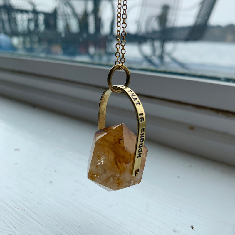 """I Exist As I Am That Is Enough"" Crystal Necklace"