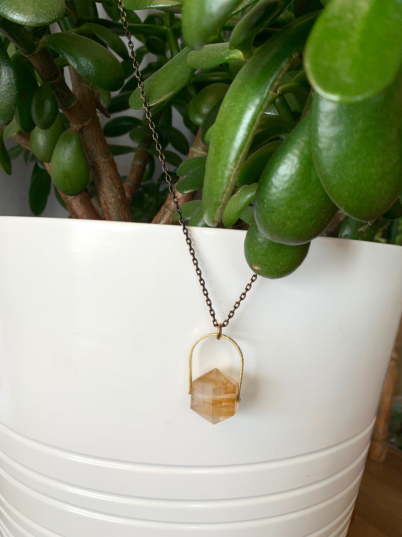 Everything was Beautiful and Nothing Hurt, Citrine Necklace
