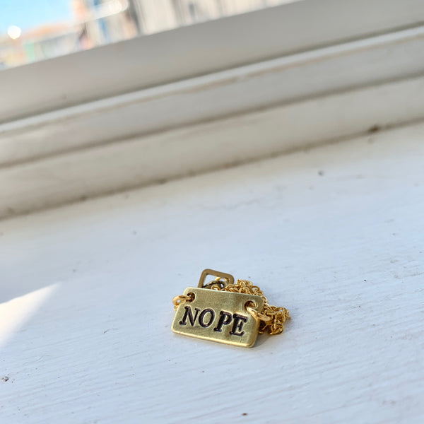 Nope necklace
