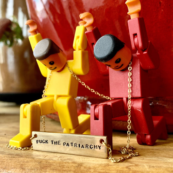 Fuck the Patriarchy Necklace