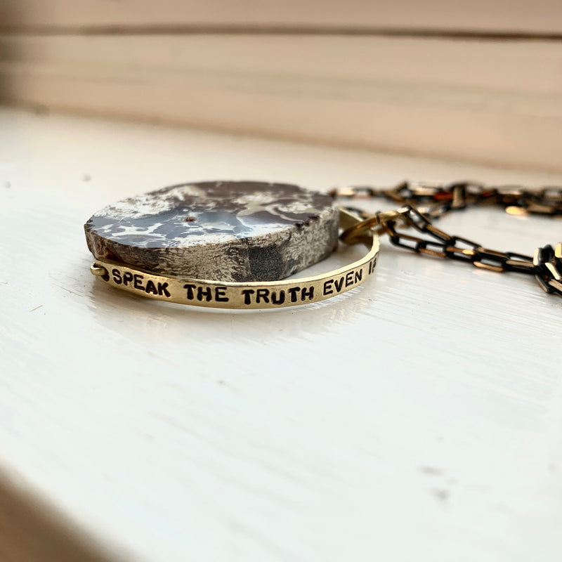 """Speak the Truth"" Crystal Necklace - Jasper"